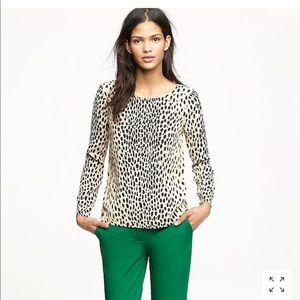JCrew Scoopneck Blouse/ Wildcat Leopard Print